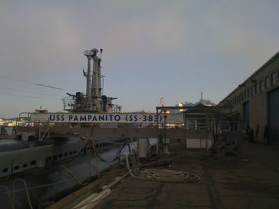 photo of submarine at dock