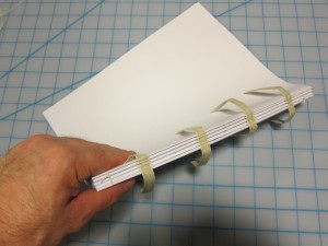 Sewn signatures to bind into a hardcover