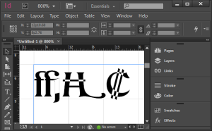 image of overlapping paths in a font